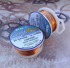 Craft Wire 20 Gauge (0.81 mm) RAME NATURALE Beadsmith Pro qualità non offusca