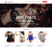 Lingerie Shop Website For Sale - Earn £420.00 A SALE. Free Domain| Web Hosting