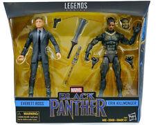 """100 Hasbro Marvel Legends 6"""" Figure Everett Ross & Erik Killmonger Set AU"""