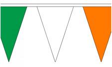 Green White Orange 20M Triangle Flag Bunting - Large 54 Flags - Triangular