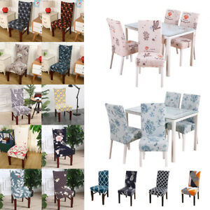 2021 Geometric Elastic Dining Chair Cover Floral Party Banquet Seat Protect Case