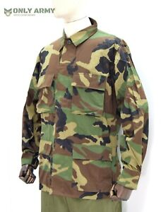 Croatian Military 4 Pocket Field Jacket Shirt Lightweight Woodland Camo US Army