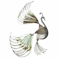 Curtis Jere Bird Of Paradise Metal Brass Wall Sculpture Mid-century