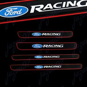 For Ford Racing Protector Sill Scuff Panel Cover Door Decal 3D Anti Scratch 4PCS
