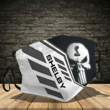 Shelby Mustang Punisher 3D Face Mask cloth cotton Usa