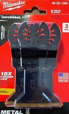 """Milwaukee 1-3/4"""" Titanium Metal Cutting Multi-Tool Blades (3-Pack) 49-25-1263"""