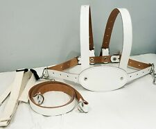 Genuine White Leather toddler baby reins/harness 6m - 4yr