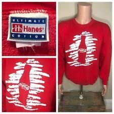 Vintage Coca Cola Sweatshirt Crewneck Red Hanes Cotton Enjoy Coke Large Medium