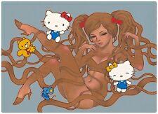 Hello Kitty Giclee Print Audrey Kawasaki Signed & Numbered Ed 150 Hi