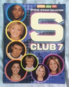 S CLUB 7 Official Sticker Collection Album NO STICKERS