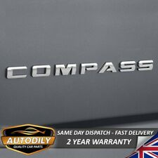 Jeep Compass Badge Chrome Letters Tailgate Rear Boot 315x20mm