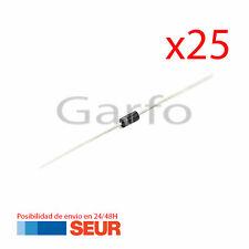 x25 Diodo Rectificador 1N4001 50V 1A