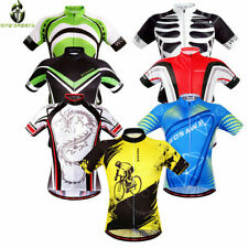 Bike Jerseys Mens Cycling Shirt Tops Short Sleeve Breathable Downhill Mountain