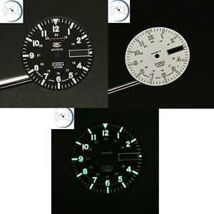 28.5mm Watch Dial Green Luminous Replacement for NH35A NH36A Mechanical Movement