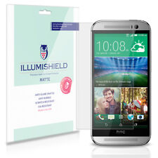 iLLumiShield Matte Screen Protector w Anti-Glare/Print 3x for HTC One M8