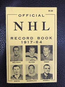 Official NHL Record Book 1917-64 (375pages).Unopened. Vg
