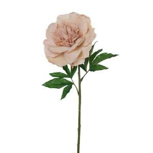 Artificial Silk Peony Flower STEM - Vintage Dusty Pink