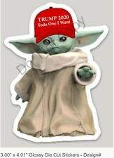 "TRUMP 2020 BABY YODA STAR WARS THE MANDALORIAN ""YODA ONE I WANT"" MAGA"