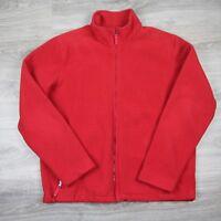 Vintage Lands End Full Zip Fleece Jacket Coat Thermacheck Polyester L