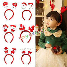 Christmas Cute Santa Snowman Hairband Headband Hat Xmas Party Decoration Random