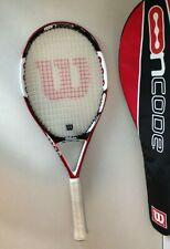 Wilson Ncode N5 Oversize Red Black White Tennis Racket w/ Case