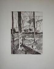 Pierre Courtin gravure signée et numérotée Paris New-York Amsterdam cerf bois