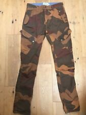 NEW JONNIE B BODEN Mens Boys Brown Camouflage Cargo Military Trousers @ UK 30 R