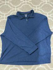Men's Van Heusen Flex Pull-Over - Striped Navy Blue - 3XLT
