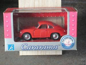 CARARAMA - PORSCHE 356B COUPE 1/43 SCALE DIECAST MODEL IN RED
