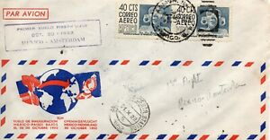 1952 Mexico First Flight Cover from Mexico to Amsterdam 30 October 1952
