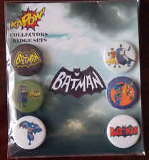 Batman Cartoon 25mm x 6 Badge Collectors Set by Kapow!
