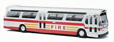 "Busch 1/87 HO 1959 GMC TDH-5301 Fishbowl City Bus ""FDNY FIRE"" 44550"