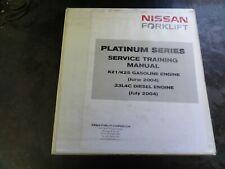 Nissan K21 K25 Gasoline Engine 33L4C Diesel Engine Forklift Service Train Manual