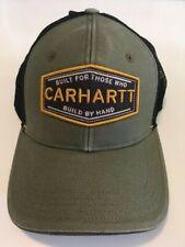 NEW CARHARTT TRUCKER SNAP BACK ADJUSTABLE ARMY GREEN/BLACK MESH HAT CAP!