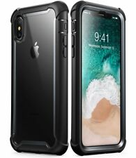 Apple iPhone X 10 Case Full Body Bumper Cover Built In Screen Protector [Ares]