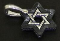 David Yurman 925 Sterling silver/forged carbon cable Star of David pendant