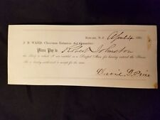 1865 CIVIL WAR NEWARK NJ J.B. WARD SCRIP DRAFTED MAN SERVICE UNION SOLDIER