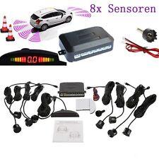 Parking Distance Control Reverse Rear Kits LED Buzzer Alarm+ 8 Sensors