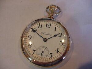NICEST 18 size 1909 HAMILTON 924 ANTIQUE POCKET WATCH SERVICED! A BEAUTY! L@@K!