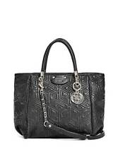 G CUBE QUILTED ABBEY SATCHEL Adjustable Handbag For Women's, Black