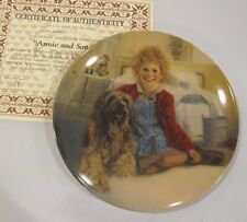 1982 Little Orphan Annie 1st Issue Annie & Sandy Knowles China Collector Plate