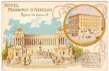 POSTCARD ITALIAN TOURISM HOTEL MASSIMO D'AZEGLIO ROME