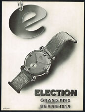 1940s Vintage 1945 Election Co. Grand Prix Watch Mid Century Modern Art Print AD
