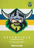 B7 BRAND NEW SEALED NRL - Essentials - Canberra Raiders (DVD, 2013, 3-Disc Set)