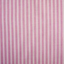 White & Pink 3mm Stripe Polycotton Fabric Pyjama P/Mtr