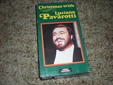 Christmas with Luciano Pavarotti VHS Tape Video Classics Symphony Orchestra
