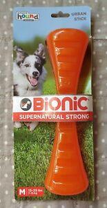 Bionic Urban Stick Dog Toy : Tough Dog Toy : Medium Size : Orange : Brand New! :