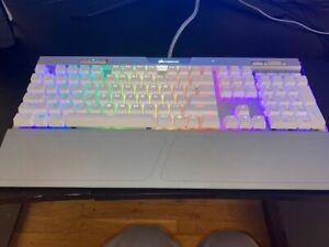 Corsair K70 RGB MK.2 RAPIDFIRE (CH9109018NA) Wired Gaming Keyboard White/Silver