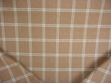Pollack 3027 Lambswool Plaid Camel Refined Wool Tartan Upholstery Fabric