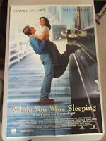 Vintage 1 sheet 27x41 Movie Poster While You Were Sleeping Sandra Bullock 1995